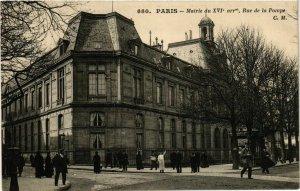 CPA PARIS 16e Mairie du 16e Arr. Rue de la Pompe ed. C.M (577240)
