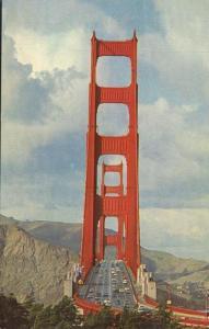 Golden Gate Bridge at San Francisco CA, California - pm 1970