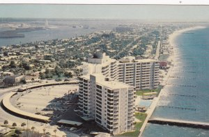 CLEARWATER BEACH, Florida, 1940-60s; Mandalay Shores Apartments, Bird's Eye View