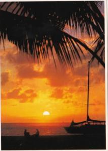 Florida Beautiful Sunset Scene Over Ocean