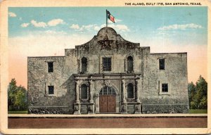 Texas San Antonio The Alamo Built 1718 Curteich