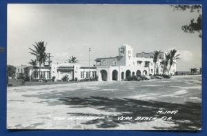 Vero Beach Florida fl the Windswept real photo postcard RPPC
