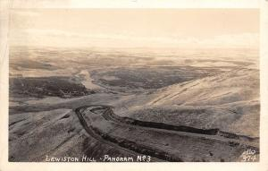 Lewiston Hill Idaho~Panorama~Switchback Road~1945 WWII Soldiers Mail~RPPC