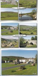 Reeth Calver Hill Swing Bridge Yorkshire Village Caravan 3x Postcard s