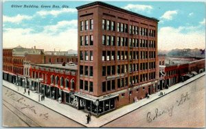 Green Bay, Wisconsin Postcard Wilner Building Street View S.H. KNOX c1910s