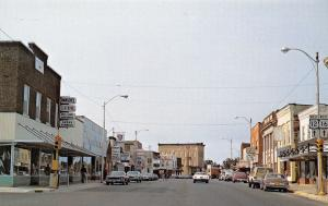 Mauston Wisconsin~Downtown~Hansen's Clothing~Old Style Beer~Bar~Hwy 12-16~1970s