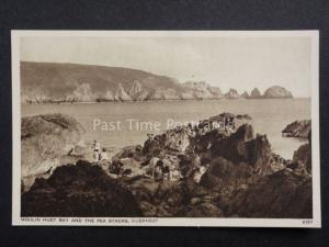Channel Islands GUERNSEY Moulin Huet Bay & Pea Stacks by D.Constance 5157