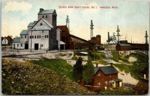 HANCOCK, Michigan Postcard QUINCY MINE SHAFT HOUSE, No. 1 c1910s Unused