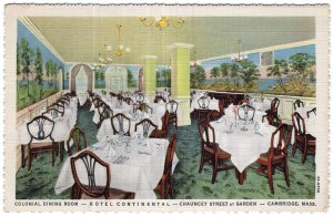Cambridge, Mass, Colonial Dining Room, Hotel Continental