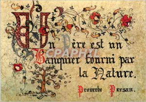Postcard Modern Proverbs illuminated Pere is a banker