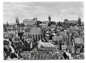 Germany Nuremberg Nurnberg Birdseye View to Castle Glossy Photo Postcard 4X6