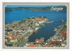 Harbor and City from Sky, Bergen, Norway 1940-70s