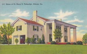 Home of Dr. Harry E. Talmadge, ATHENS, Georgia, 30-40's