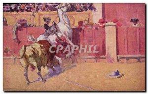 Old Postcard Bullfight Bullfight Bertuchi