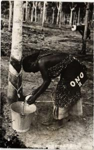 Singapore Postcard Washing Woman (a1404)