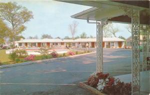 Wilmington North Carolina 1960s Postcard The Carolinian Motel