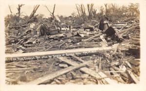 Seward Nebraska~Edwards Residence~Pile of Junk after Tornado May 14 1913~RPPC