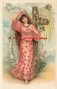 6 Postcard Set, ASB No 178, Theological Virtues, Charity Hope Purity Patience