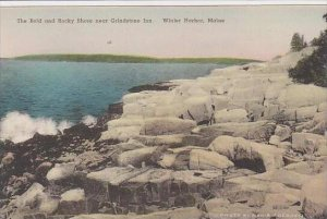 Maine Winter Harbor The Bold And Rocky Shore Near Grindstone Inn Albertype