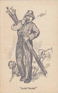 Man With Dogs Clos Poles Clos Poles