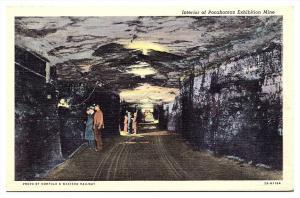 3125  VA Pocahontas   Interior  Coal Mine Exhibition
