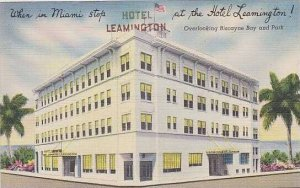 Florida Miami Hotel Leamington Overlooking Biscayne Bay And Park