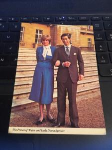 Vintage Postcard: Prince Charles and Lady Diana