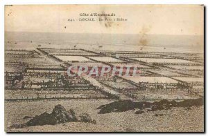 Old Postcard Emerald Coast Oysters Cancale Parcs