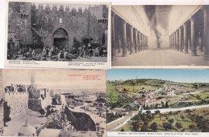 Jerusalem Citadel of Zion Damascus Gate 4x Old Postcard s