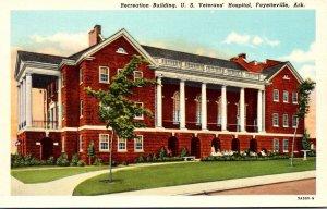 Arkansas Fayetteville Recreation Building U S Veterans' Hospital Curteich