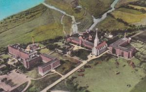 South Dakota Yankton Aerial View Sacred Heart Convent & Hospital Handcolored ...