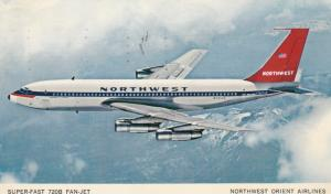NORTHWEST Airlines Super-fast 720B Fan-Jet , 1963