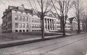 Exterior, Chestnut St. School, Springfield,  Massachusetts, PU-1909