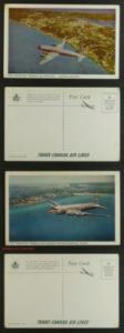 Transcanada Skyliner over Bermuda; Toronto 2 PCs 1950s