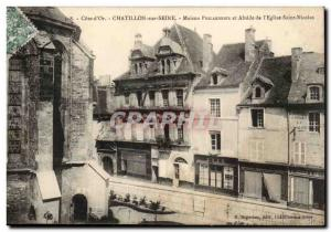 (Cote d & # 39Or) Chatillon-sur-Seine House Philandrier and Apse of the & # 3...