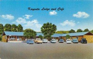KAYENTA LODGE & CAFE Kayenta, Arizona Old Cars Roadside c1950s Vintage Postcard