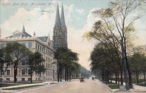 Grand Avenue Boulevard Milwaukee Wisconsin 1908