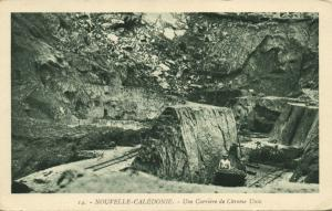 New Caledonia, Chrome Mine Mining, Une Carriere de Chrome Unia (1930s)