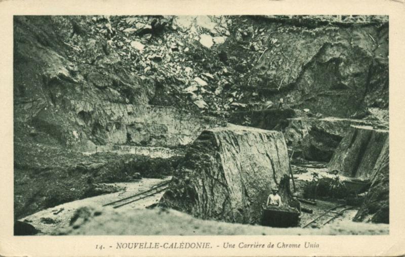 New Caledonia, Chrome Mine Mining, Une Carriere de Chrome Unia (1930s)