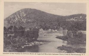 Junction of the Hudson & Schroon Rivers & Sugarloaf Mountain between Stony Cr...