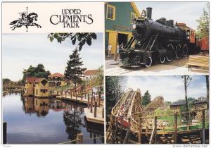 Upper Clements Park, Train, Roller-Coaster, Lake, ANNAPOLIS ROYAL, Nova Scoti...