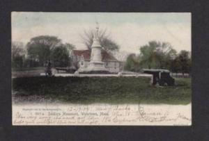 MA Soldier's Monument WATERTOWN MASS POSTCARD UDB 1905