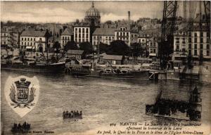 CPA  Nantes - La Nacelle du Pont á transbordeur effectuant la ...   (588065)