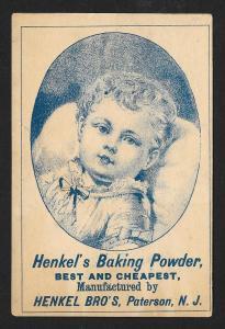 VICTORIAN TRADE CARDS (2) Henkel's Baking Powder Kids
