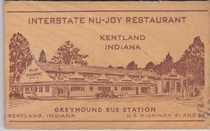 Interstate Nu-Joy Restaurant , Kentland , Indiana , PU-1944 ; Greyhound Bus S...
