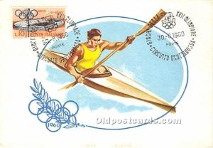 Canoeing, 1960 Olympic 1960 Stamp on front