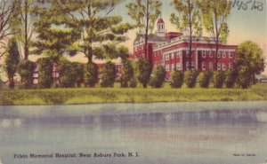 ASBURY PARK - FITKIN MEMORIAL HOSPITAL...View of the red brick building 1940s