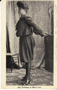 Am Taining to Meet You  Woman in Gym Clothes 1914