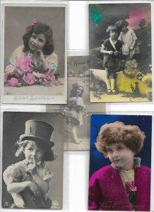 Kids Victorian Style RPPC Postcard Lot of 10 01.11