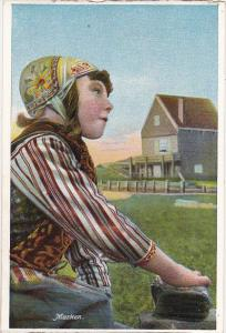 Netherlands Marken Girl In Traditional Costume